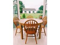 Kitchen table and dining chairs
