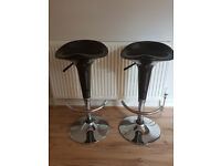 For Sale 2 Matching Black Bar Stools