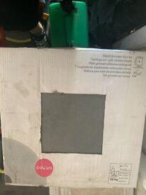 Slate grey floor tiles