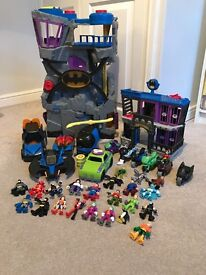 Imaginext batcave, jail, vehicles and figures