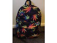 Multicoloured leafed backpack