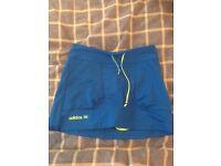 Girls blue adidas holf skirt age 10-11