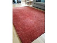 Rug - Red, 100% Wool 200 x 290cm