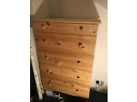 IKEA Tarva chest of five drawers, solid pine wood