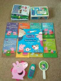 Peppa Pig bundle of books and DVDs and bits