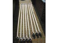 Aluminium tower scaffold x8 poles/tubes/braces