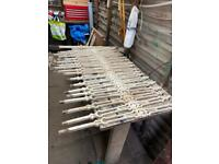 Cast iron staircase railings