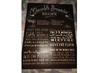 Recipe canvas for kitchen