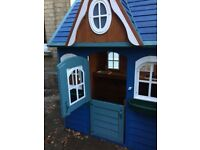 Wooden play house - erected, and painted