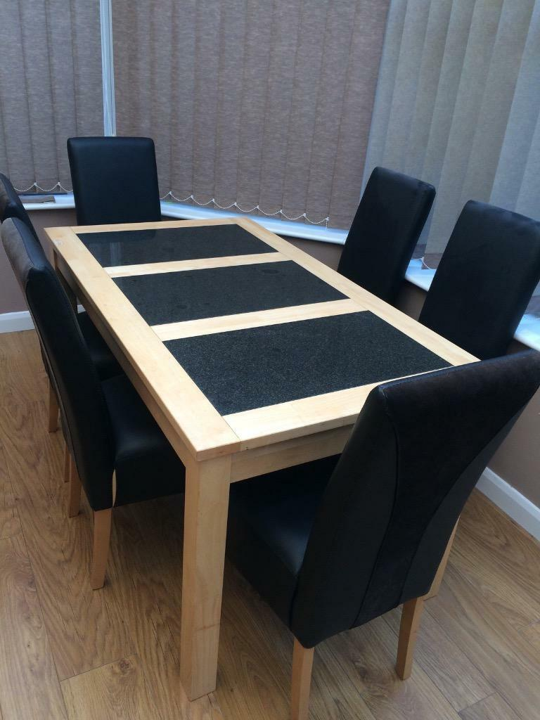 fantastic bargain dfs dining table and 6 chairs in hull east