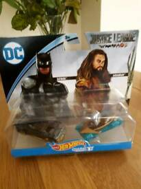 Hotwheels DC characters Justice League Batman and Aquaman- Two new and sealed packs.Price per pack