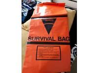 LARGE ORANGE SURVIVAL BAG