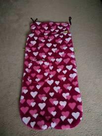 Buggysnuggle Cosytoes Footmuff foot muff pink hearts fur