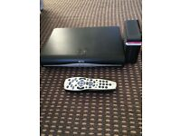 Sky plus HD box with router & remote