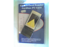 23 in 1 Memory Card Reader Cardbus PC Card PCMCIA - USED
