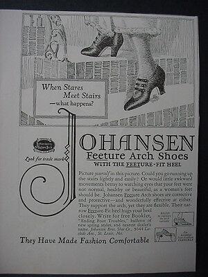 1925 Johansen Feeture Arch Shoes Vintage Print Ad 11919