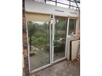 Upvc double glazed door and window.