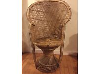 Large Wicker Peacock Chair - Good condition!