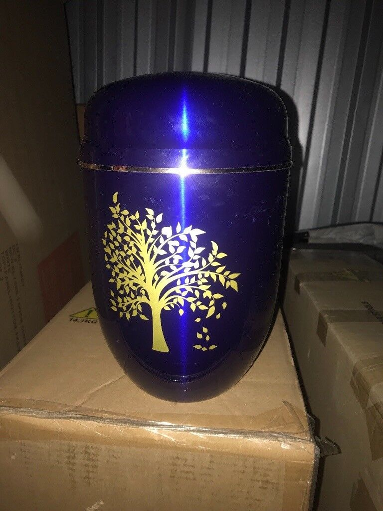 Blue and gold Urn