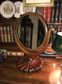 STUNNING ROUND MAHOGANY SWING MIRROR IN THE STYLE OF WILLIAM IV
