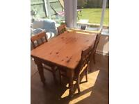 NOW REDUCED to £70 Dining Table with Chairs
