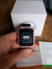 Girls pink and black smart watch