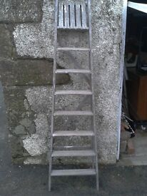 Wood step ladders 6 foot high, shabby chic project