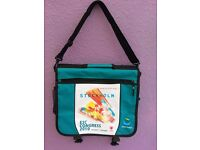 Messenger computer school college shoulder bag turquoise spacious 2 compartment