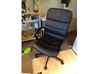 Black IKEA desk chair in good condition