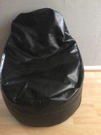 Bin bag leather chair