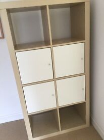Ikea Expedit Birch effect shelving Unit with 4 drawers