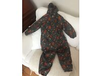 The gruffalo all in one waterproof coat age 3-4 fleece lined excellent condition