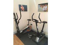 York Aspire cross trainer and fitness bike plus stepper