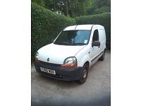 Renault Kangoo Diesel 1.9 White Van 2001 reg