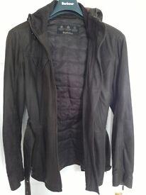 Barbour - Ladies dark brown leather jacket.