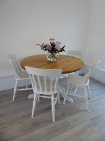 Table and chairs shabby chic FOR SALE painted in Annie Sloan