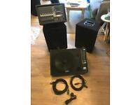 Yamaha PA system with laney monitor and speaker stands
