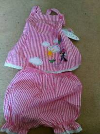Minnie mouse top and short