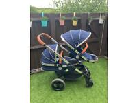 ICandy Peach 3 Royal Limited Edition Pram with lower carry cot and car seat adaptors