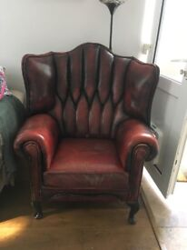 Beautiful Chesterfield armchair oxblood