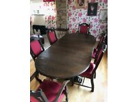 Priory Dinning Table with 6 matching chairs
