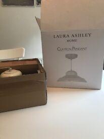 Laura Ashley cream pendant light brand new still boxed