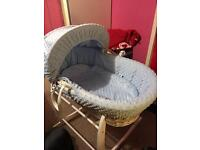 Moses basket and stand barely used and perfect condition