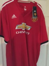 Bnwt. Xxl 17/18 Man Utd Home shirt
