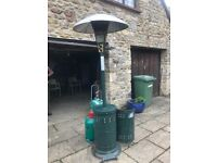 Garden & Patio Heater - Used but working with nearly full 13kg Calor Gas cylinder.
