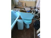 Vintage Bathroom Suite in Sky Blue, by Armitage Shanks