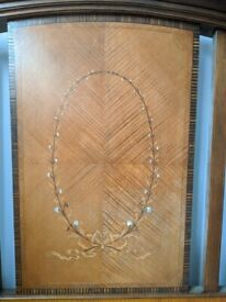Free Mother of Pearl & Marquetry frame needs repair and mattress