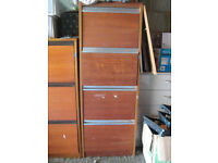 4drawer wooden filing cabinet