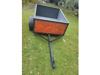 Car Trailer 4ft x 3ft General Purpose Camping Trailer Dropdown Spare Wheel Tip