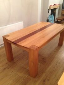 Handcrafted Solid Oak Dinning Table